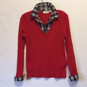 Faux Shirt Sweater